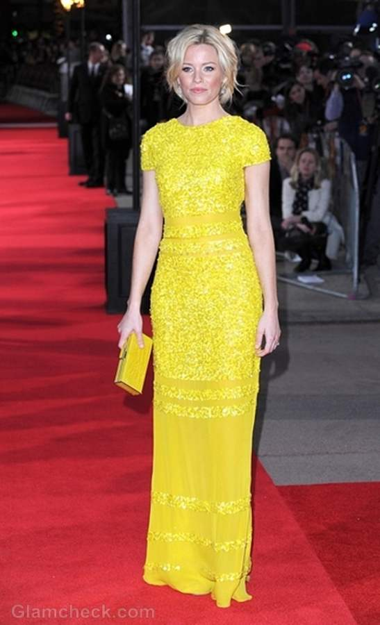 Pictures Elizabeth Banks Drop Dead Gorgeous In Yellow