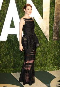 Emma Stone in Chanel Couture at Oscar Party