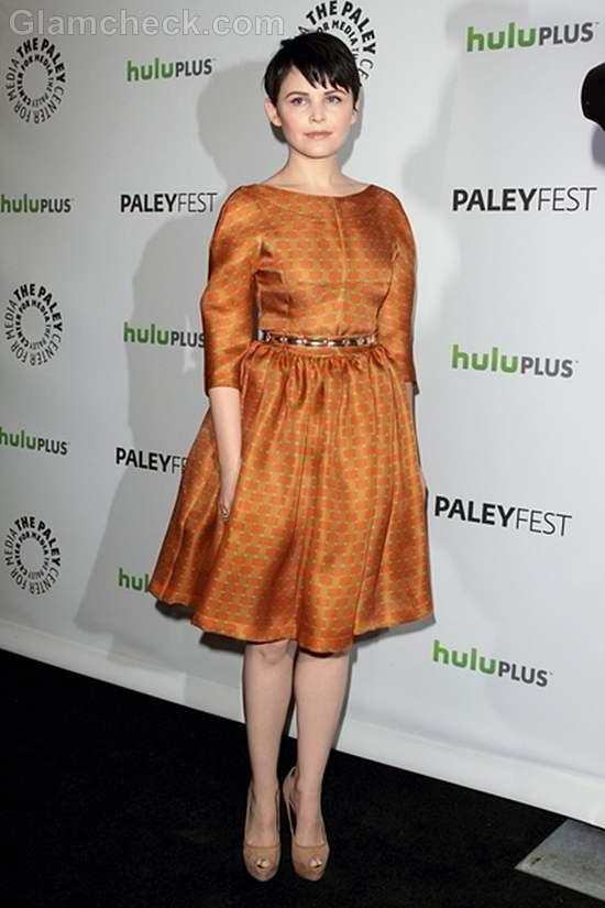 Ginnifer Goodwin Adorable in Silk Dress at Paleyfest