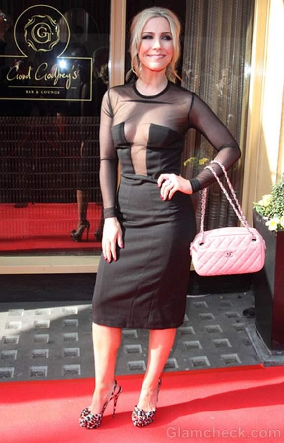 Heidi Range Wears Revealing Black Dress to 2012 Mum of Year Awards