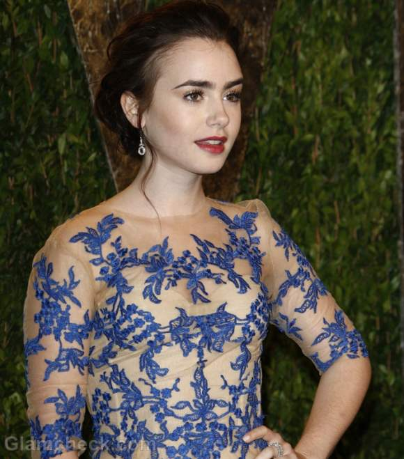 Lily Collins Oscars Party