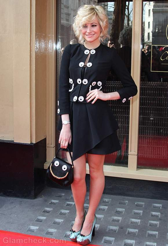 Pixie Lott Black Jacket Skirt 2012 Tesco Mum of the Year Awards