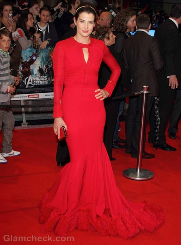 Cobie Smulders red gown