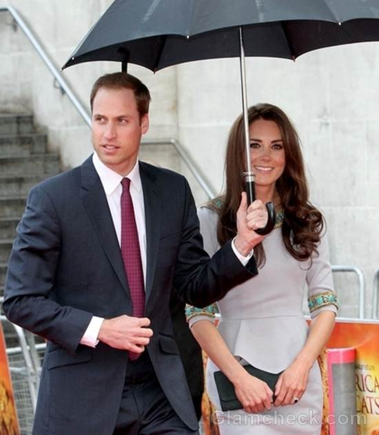 Royal Couple Make Stylish Appearance at African Cats Premiere