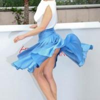 Arta Dobroshi wardrobe malfunction at 2012 cannes film festival