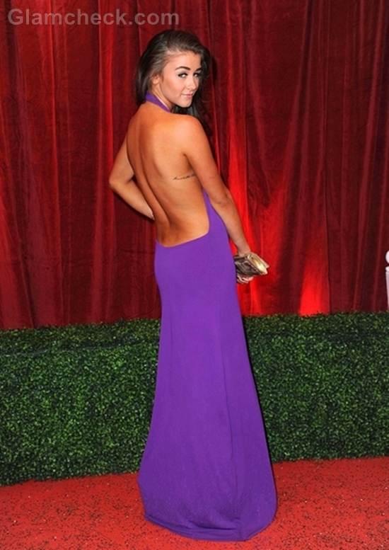 Brooke vincent backless gown