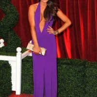 Brooke vincent cleavage baring gown