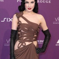 Dita von Teeses in Revealing Couture Gown at Duffstars Awards 2012