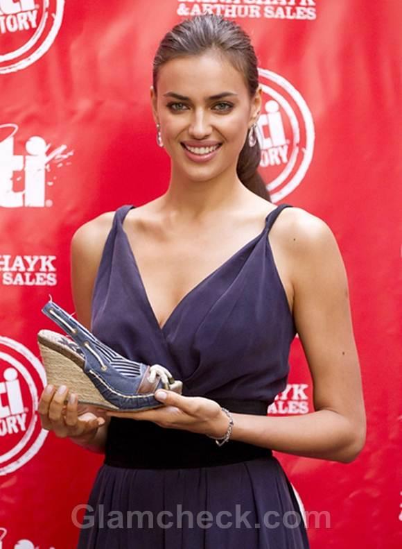 Irina Shayk at XTI Shoes Promotion