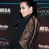 Kim Kardashian in sexy black dress