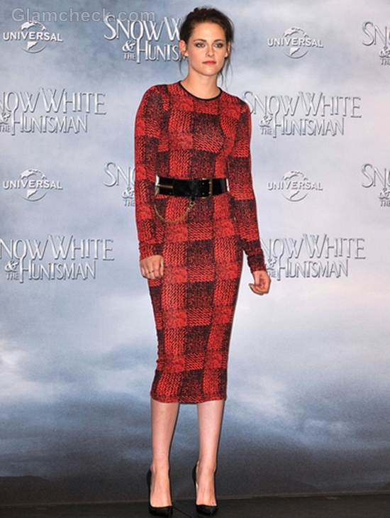 Kristen Stewart Jersey Dress at Snow White and the Huntsman Photocall