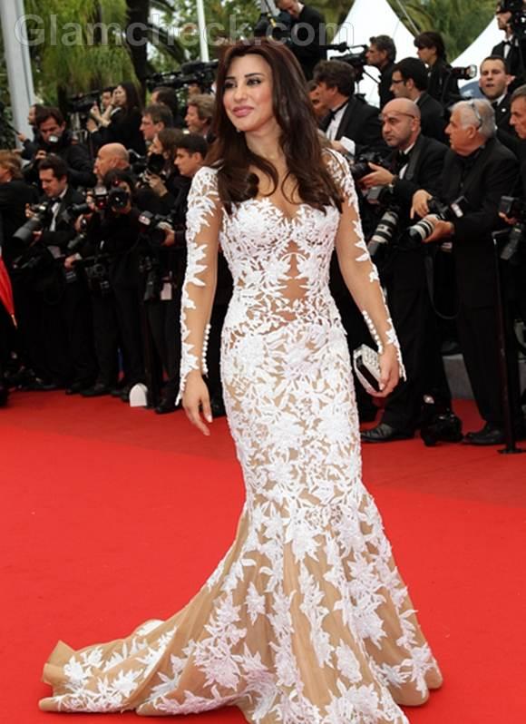 Najwa Karam Gown at 2012 Cannes