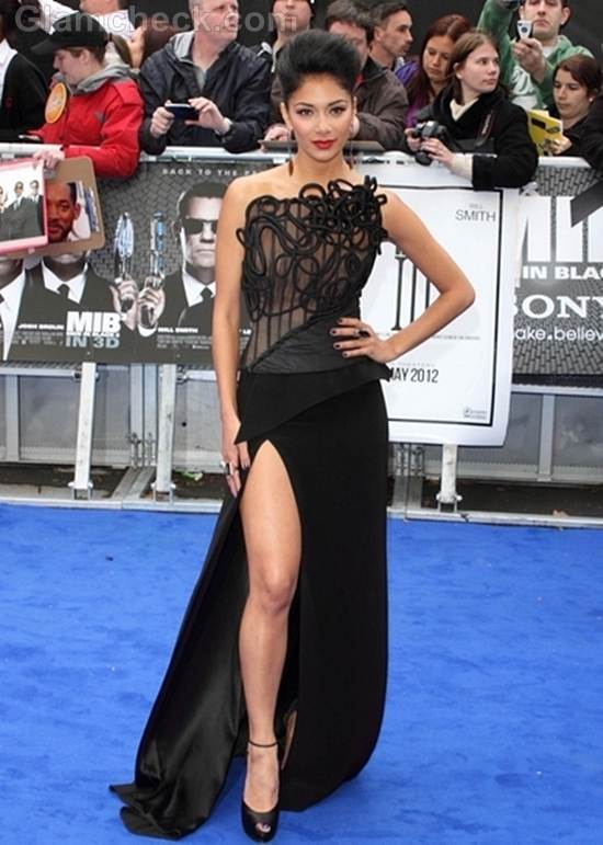 Nicole Scherzinger Black Dress at Men in Black III UK Premiere