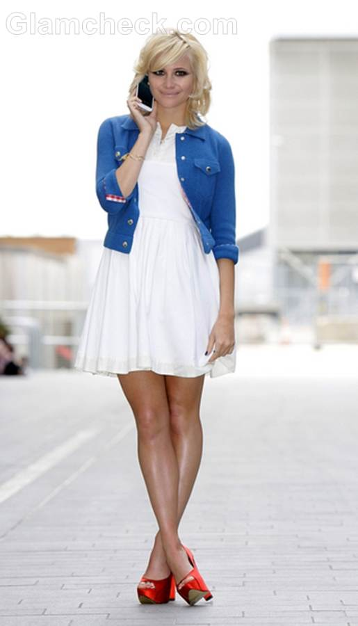 Pixie Lott Enthralls in Red White and Blue at Samsung Galaxy S