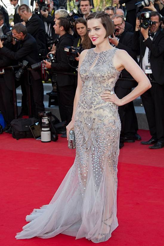 Roxane Mesquida Sequined Gown 2012 Cannes