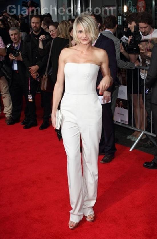 cameron Diaz in White at What to Expect Premiere