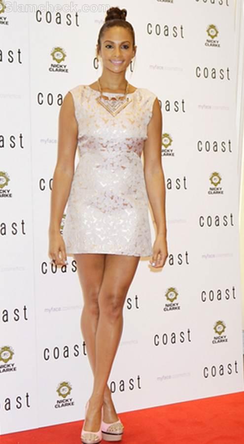 Alesha Dixon Mini Dress at Store Launch