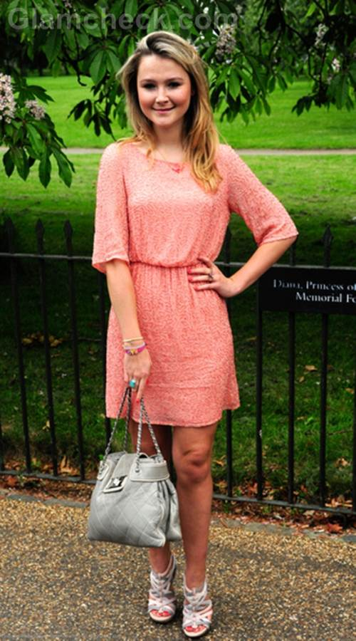 Amber Atherton pink dress Serpentine Gallery Summer Party 2012