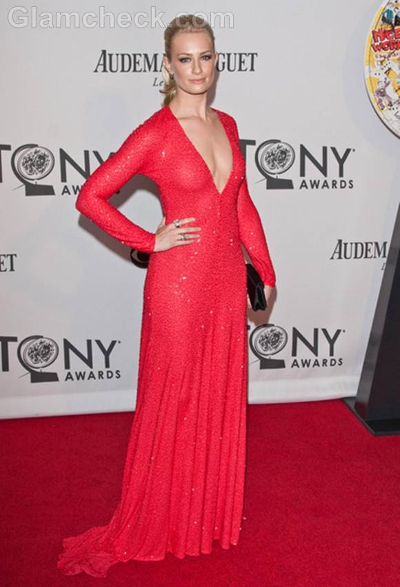 Beth Behrs gown at 2012 tony awards