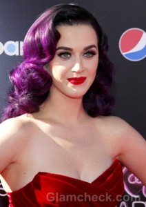 Katy Perry Rocks Red Carpet in Rich Red Dress