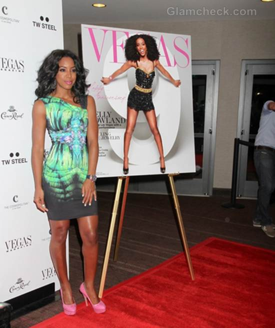 Kelly Rowland on Cover of Vegas Magazines Anniversary Issue
