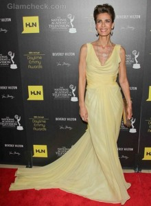 Kristian Alfonso Glamorous in Floor-sweeping Gown at 2012 Daytime Emmys