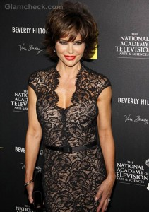 Lisa Rinna Stunning in Black Lace Gown at Daytime Emmys