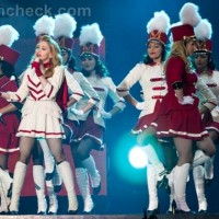 Madonna cheerleader outfit portugal concert