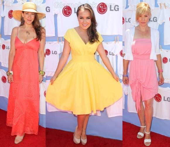 celebs wear spring color outfits