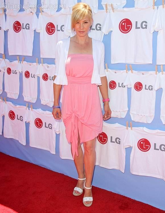 pink dress Sarah Brown