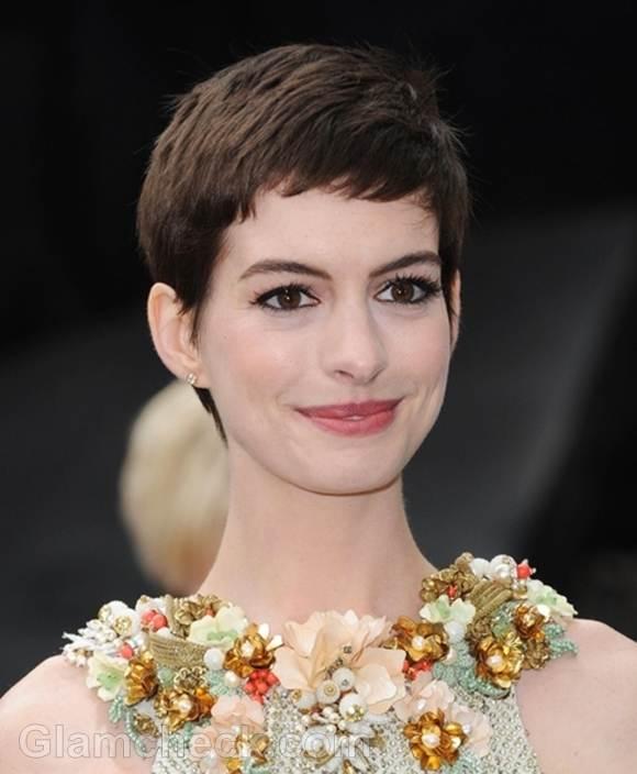 Anne Hathaway pixie hair