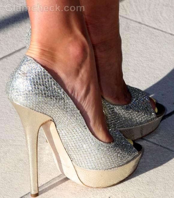 Kate Walsh silver heels