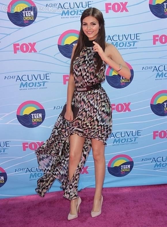 animal print dress Victoria Justice