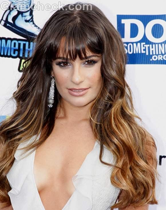 Curly hair Lea Michele