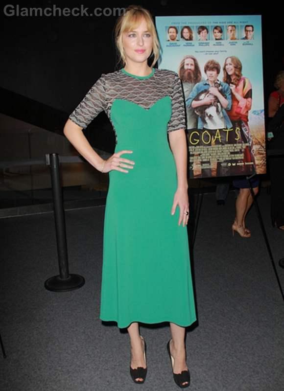 Dakota Johnson dress goats premiere
