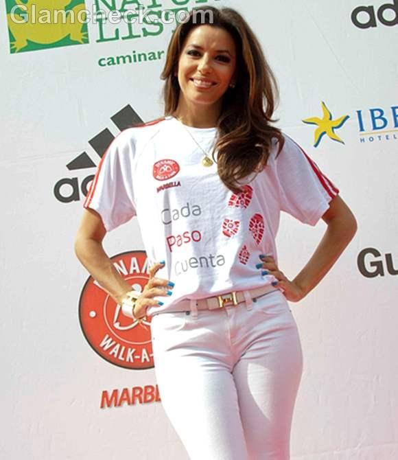 Eva Longoria Promotes Charity Walk-a-Thon