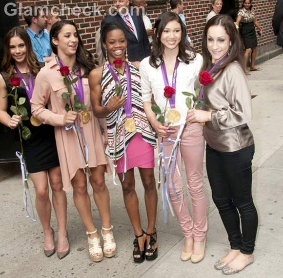 Fierce Five on the Late Show with David Letterman