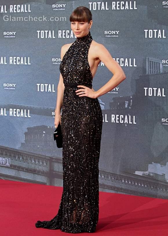 Jessica Biel Total Recall Premiere