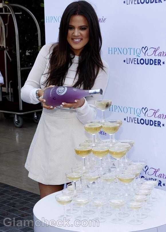 Khloe Kardashian Launches Cocktail Recipe in Short White Dress