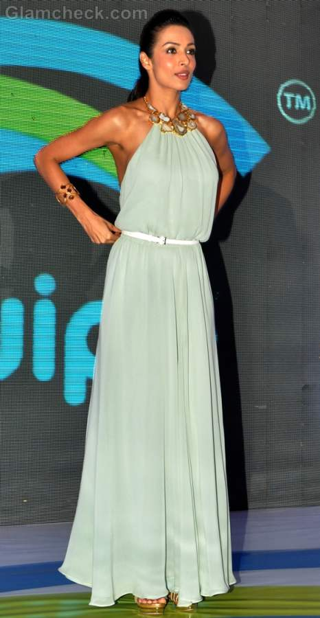 Malaika Arora Khan Pretty in Pale Mint Gown at Tablet Launch