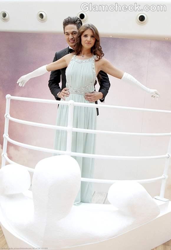 Mario Falcone Lucy Mecklenburgh Unveil Titanic Props