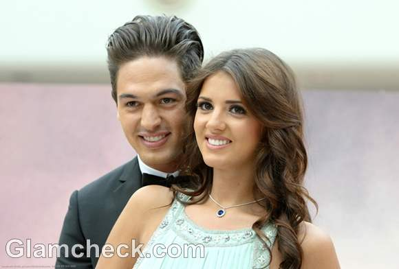 Mario Falcone and Lucy Mecklenburgh Unveil Titanic Props