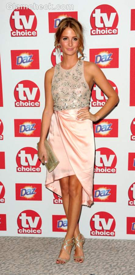 Millie Mackintosh Peach Dress at TV Choice Awards 2012