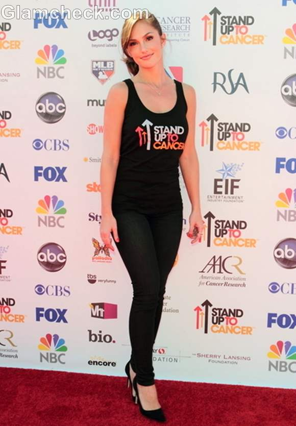 Minka Kelly Stand Up to Cancer Fundraiser