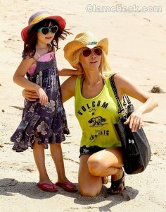 Tess Broussard and daughter Ava