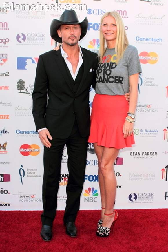 Tim McGraw and Gwyneth Paltrow Stand Up to Cancer Fundraiser