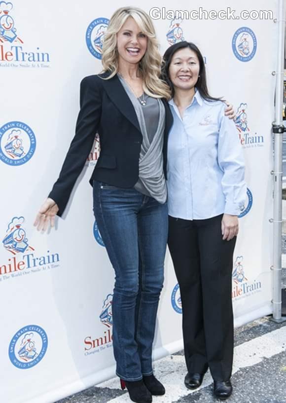 Christie Brinkley Smile Trains World Smile Day