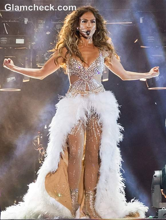 Jennifer Lopez Enthrals in Sheer Sequinned Outfit at Lisbon Concert
