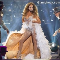 Jennifer Lopez Sheer Sequinned Outfit at Lisbon Concert