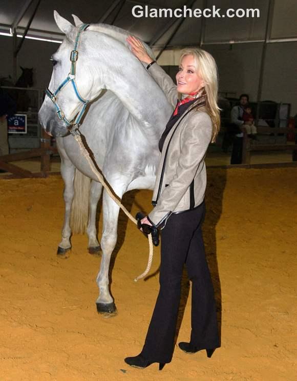 Bo Derek Visits International Horse Fair